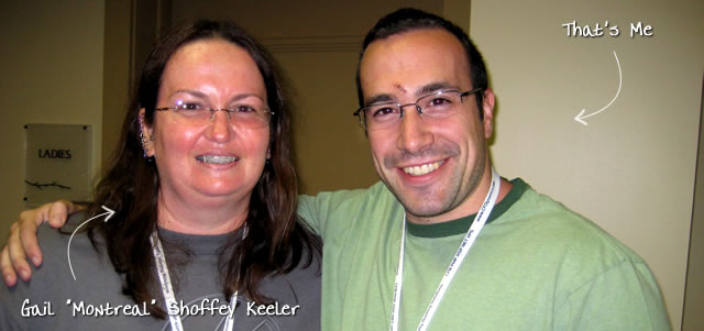 "Ben Nadel at CFUNITED 2009 (Lansdowne, VA) with: Gail ""Montreal"" Shoffey Keeler"