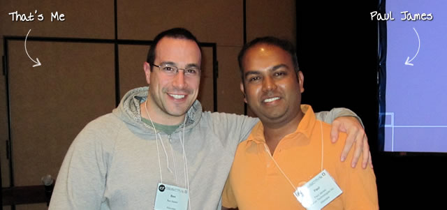Ben Nadel at cf.Objective() 2011 (Minneapolis, MN) with: Paul James