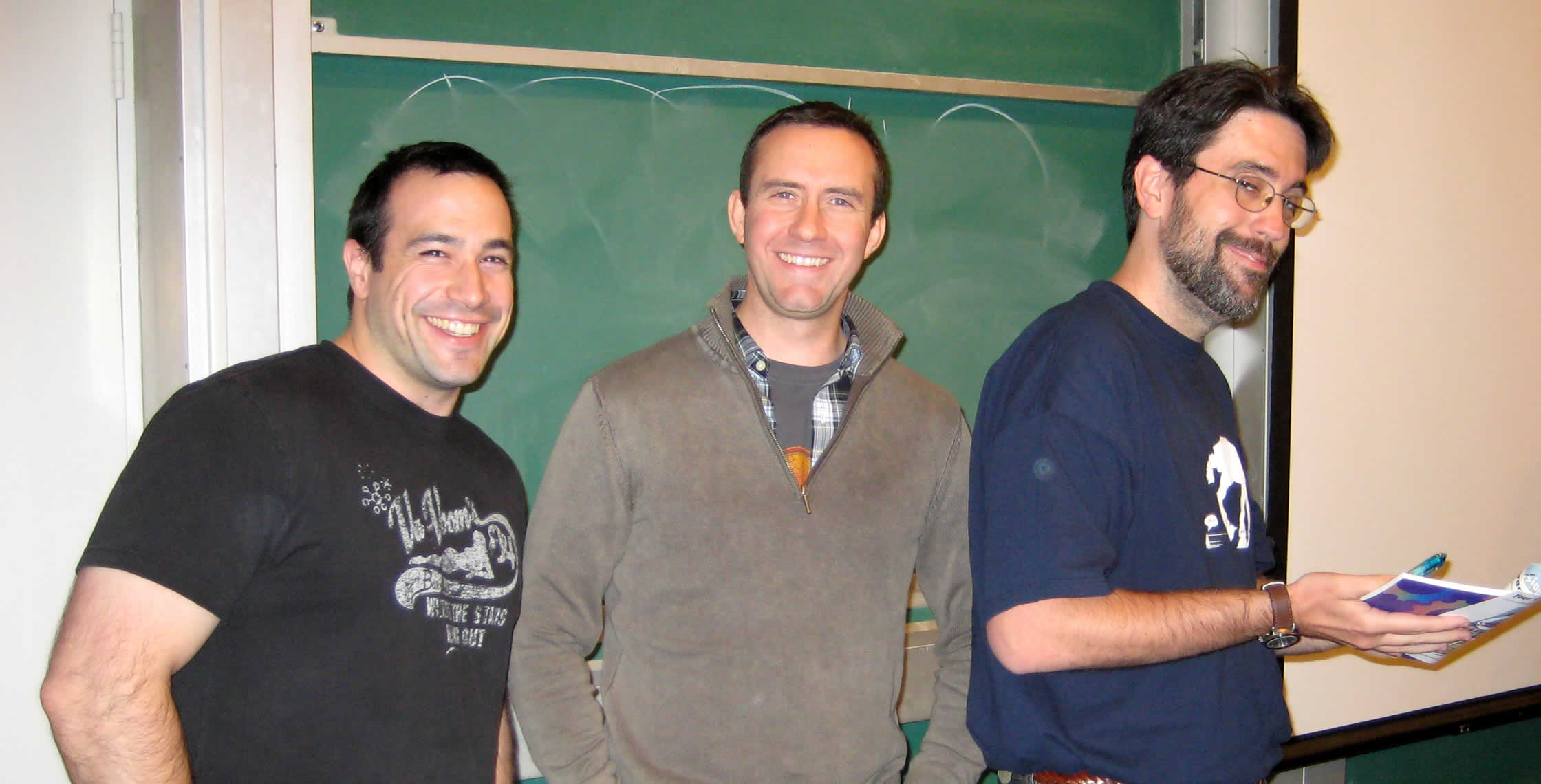 Ben Nadel at the New York ColdFusion User Group (Feb. 2008) with: Peter Bell and Ray Camden