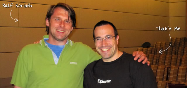 Ben Nadel at the New York ColdFusion User Group (Jun. 2010) with: Ralf Korinth