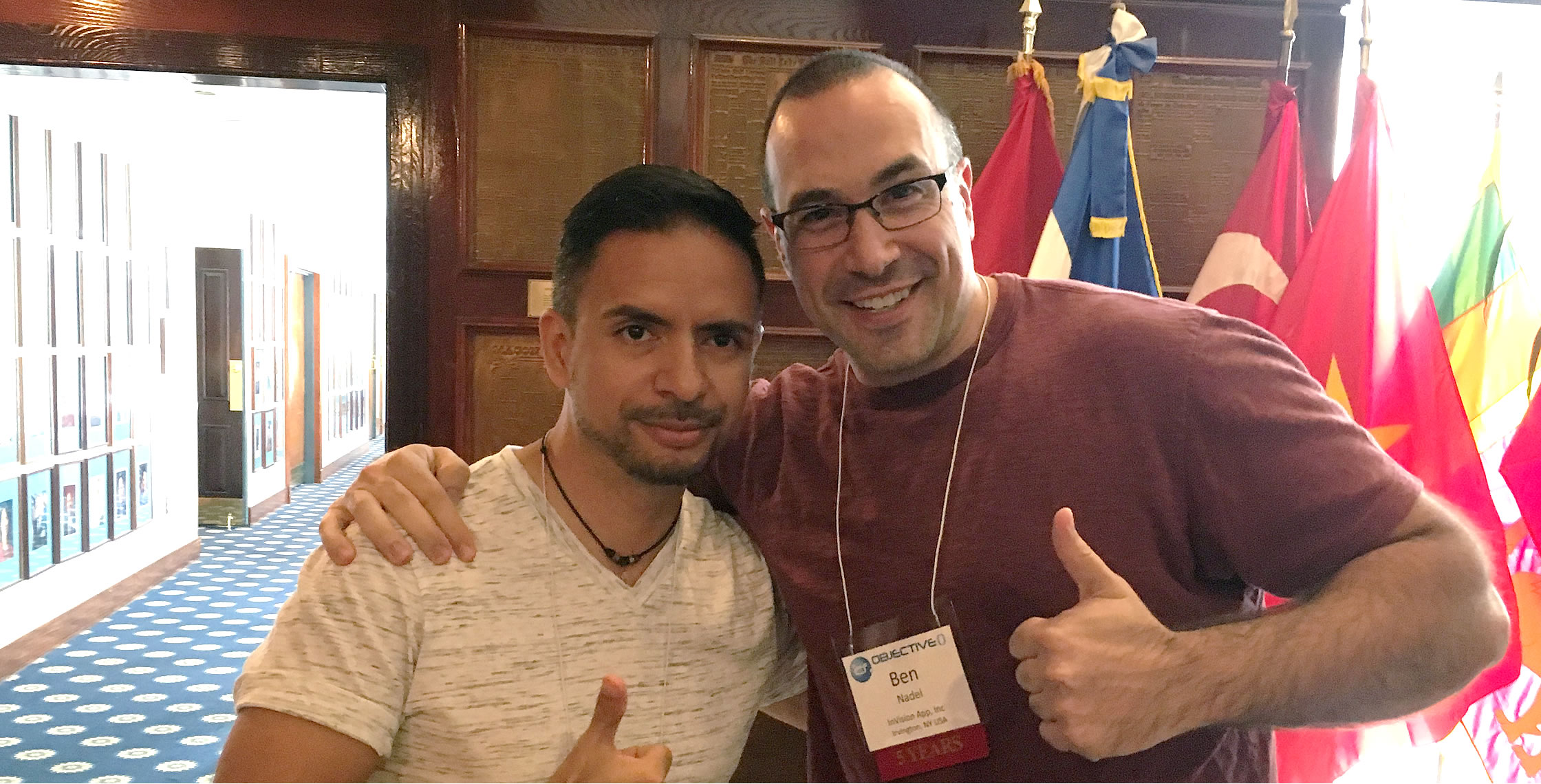 Ben Nadel at cf.Objective() 2017 (Washington, D.C.) with: Raul Delgado