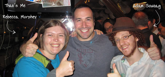 Ben Nadel at the New York Javascript Meetup (Aug. 2010) with: Rebecca Murphey and Adam Sontag