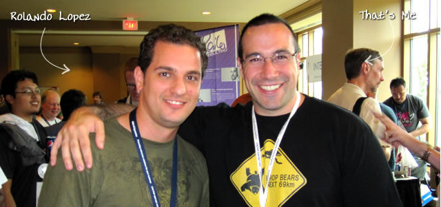 Ben Nadel at CFUNITED 2010 (Landsdown, VA) with: Rolando Lopez