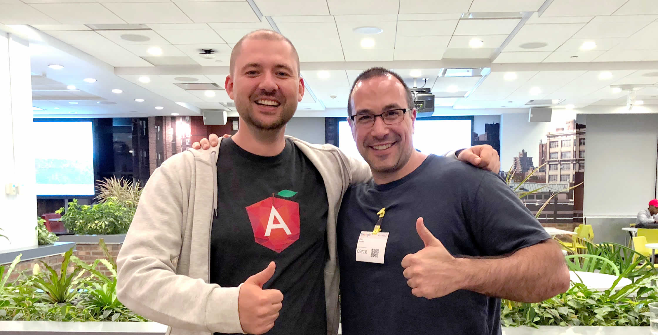 Ben Nadel at the Angular NYC Meetup (Sep. 2018) with: Roman Ilyushin