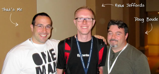 Ben Nadel at CFUNITED 2010 (Landsdown, VA) with: Ryan Jeffords and Doug Boude