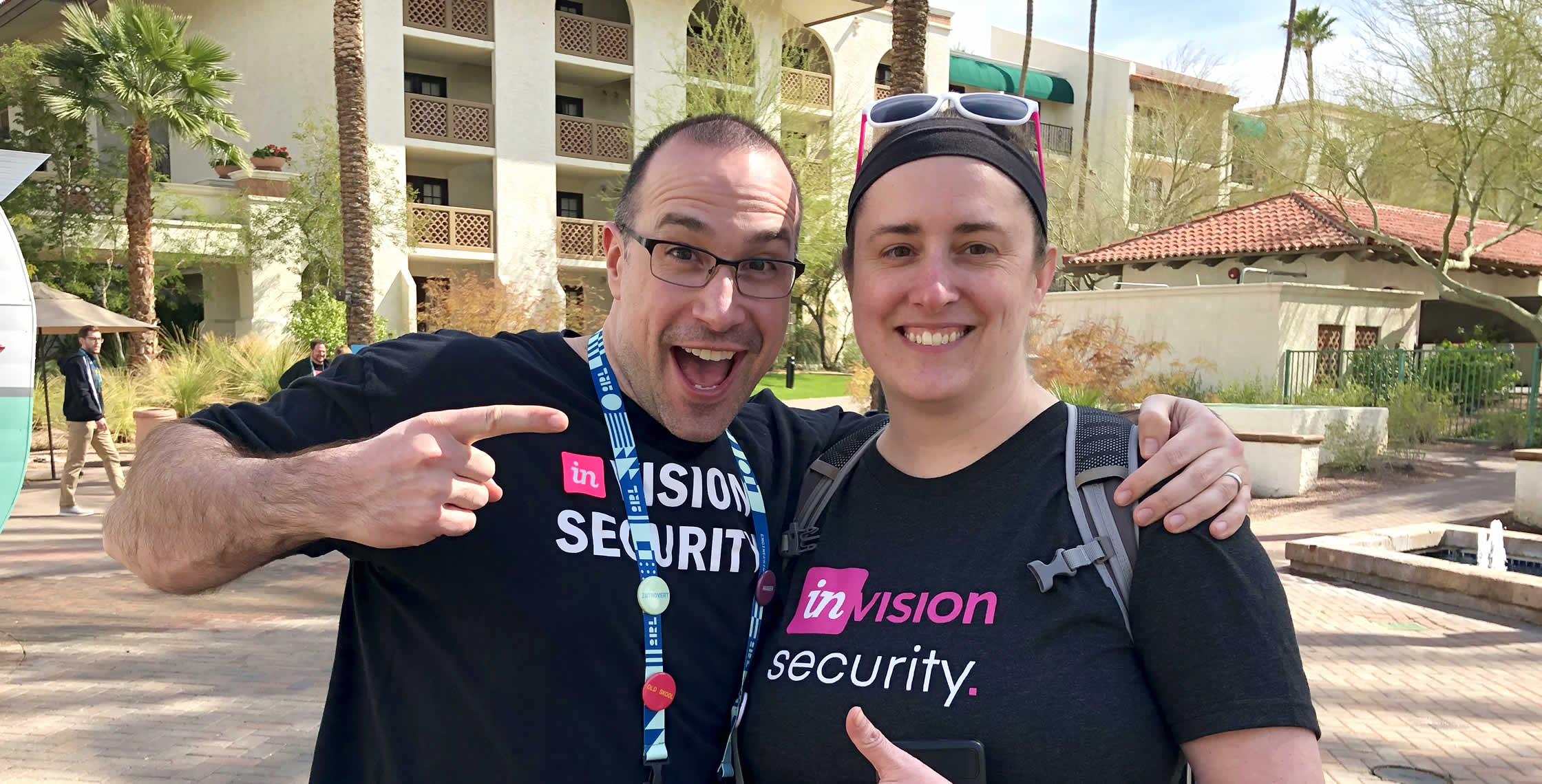 Ben Nadel at InVision In Real Life (IRL) 2019 (Phoenix, AZ) with: Sara Dunnack
