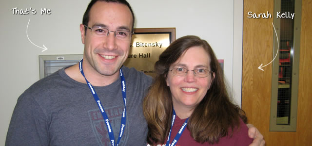 Ben Nadel at CFinNC 2009 (Raleigh, North Carolina) with: Sarah Kelly