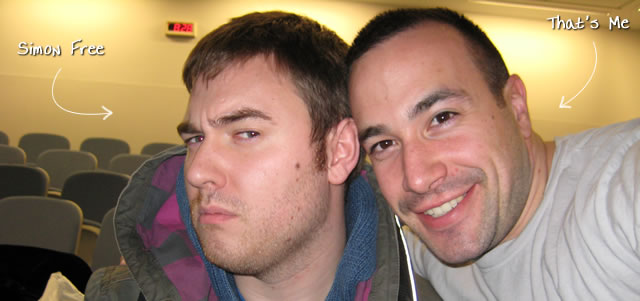 Ben Nadel at the New York ColdFusion User Group (Jan. 2009) with: Simon Free