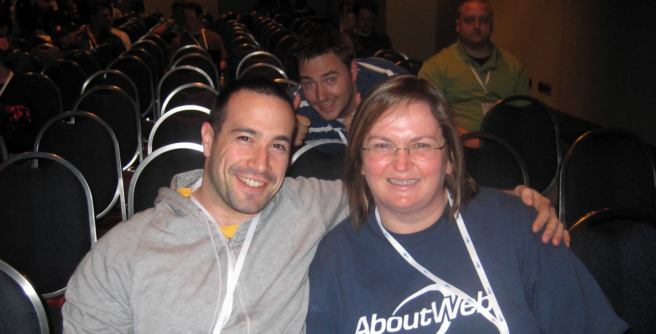 "Ben Nadel at CFUNITED 2008 (Washington, D.C.) with: Simon Free and Gail ""Montreal"" Shoffey Keeler"