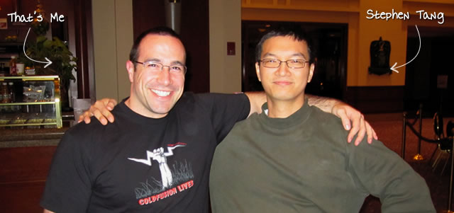 Ben Nadel at the jQuery Conference 2010 (Boston, MA) with: Stephen Tang