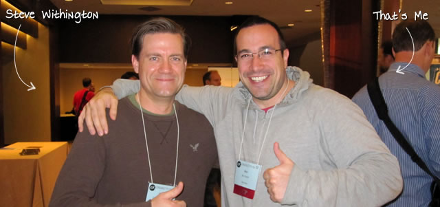 Ben Nadel at cf.Objective() 2011 (Minneapolis, MN) with: Steve Withington
