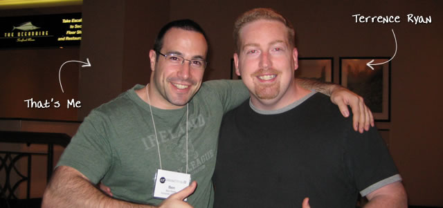 Ben Nadel at cf.Objective() 2009 (Minneapolis, MN) with: Terrence Ryan