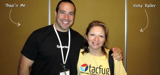 Ben Nadel at CFUNITED 2010 (Landsdown, VA) with: Vicky Ryder