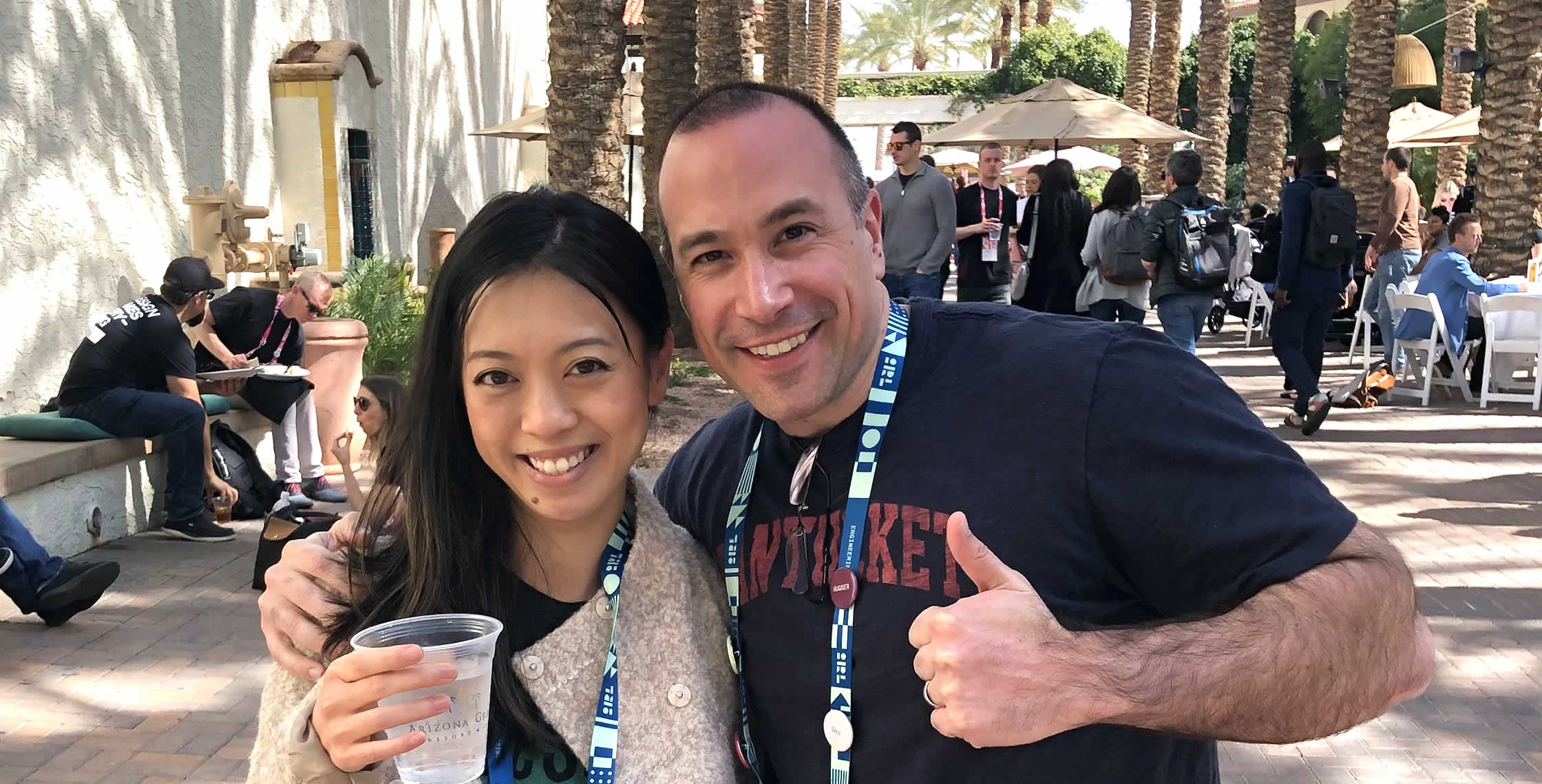 Ben Nadel at InVision In Real Life (IRL) 2019 (Phoenix, AZ) with: Winnie Tong