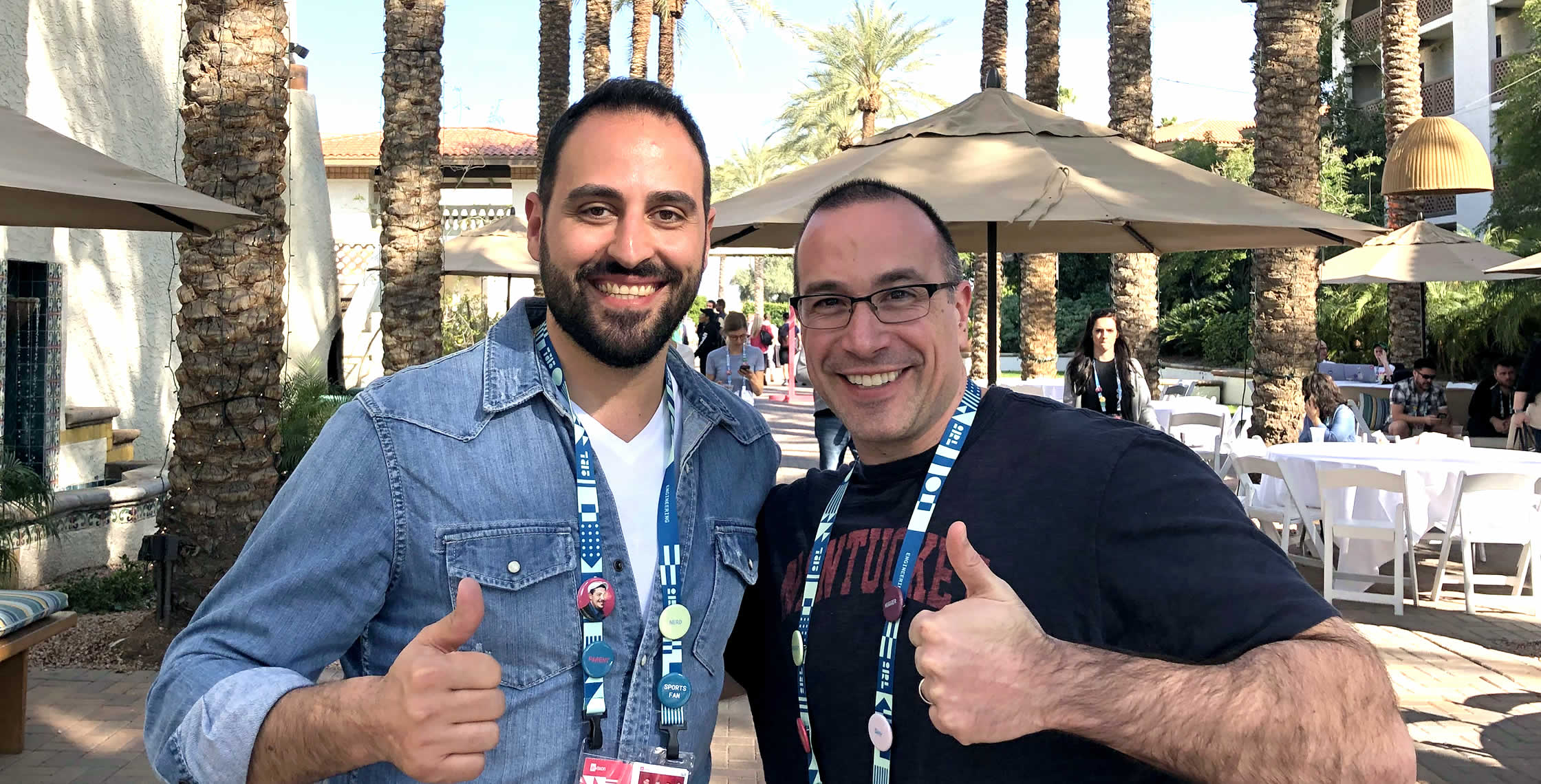 Ben Nadel at InVision In Real Life (IRL) 2019 (Phoenix, AZ) with: Wissam Abirached