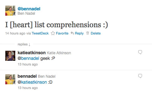 I Heart List Comprehensions - They Are Just Super Powerful.