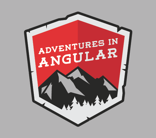 Adventures in Angular podcast logo, devchat.tv.