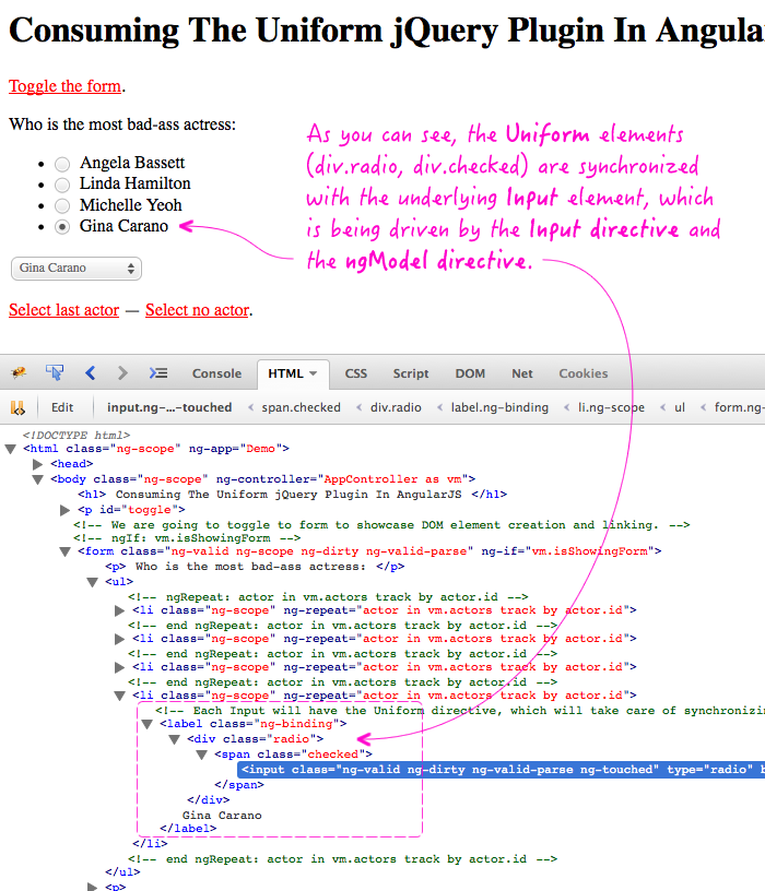 Consuming the Uniform jQuery plugin in an AngularJS context.
