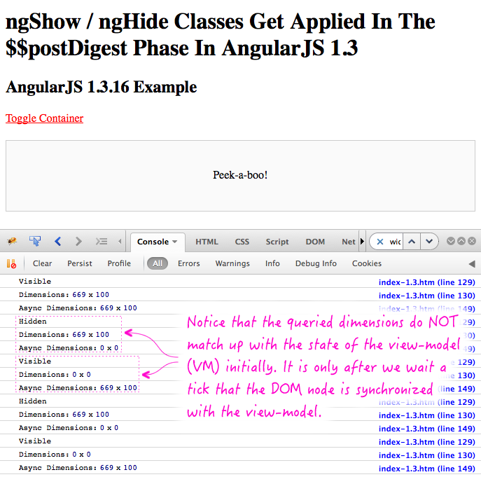 ngShow / ngHide changes in AngularJS 1.3.
