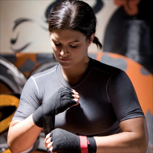 Gina Carano being streamed with Node.js.