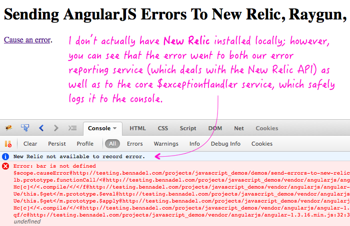 Sending AngularJS errors to a 3rd-party service like New Relic, Raygun, Sentry, etc.