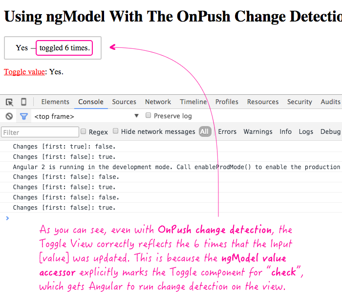 Implementing OnPush change detection with a custom input control using ngModel and Angular 2 Beta 11.