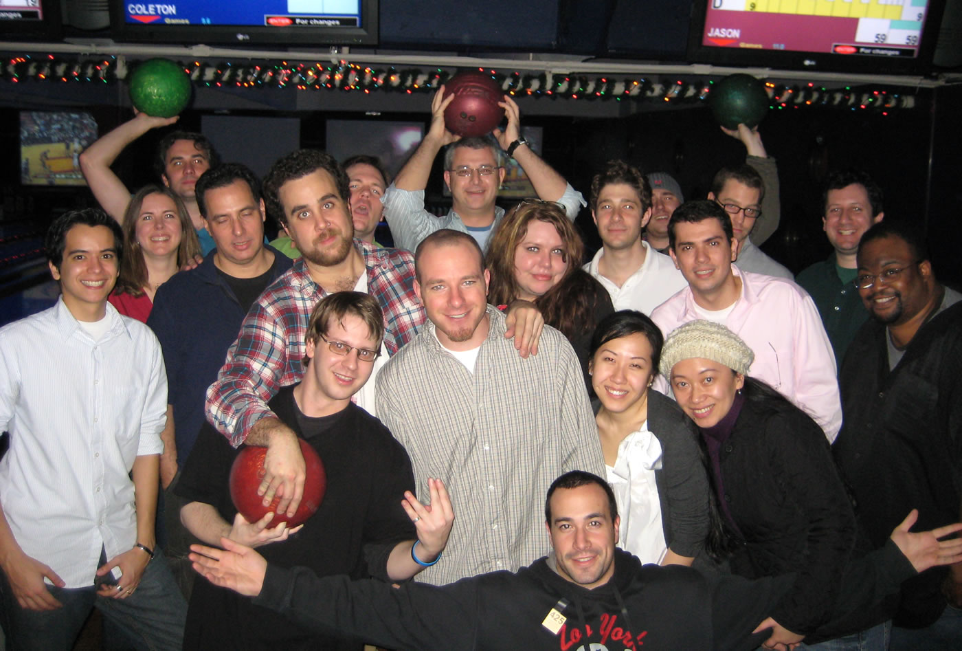 Ben Nadel with the Nylon Technology team, Christmas party!