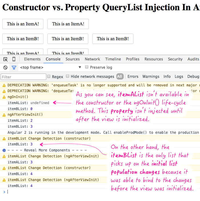 QueryList injection in Angular 2 Beta 8.