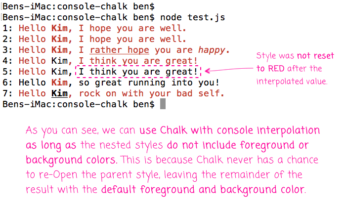 The Chalk Module Can Be Used With The Console's String