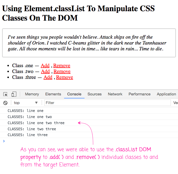 Html element classlist property in go - Div tag properties ...