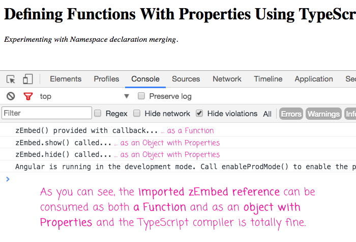 Defining Functions With Properties Using TypeScript