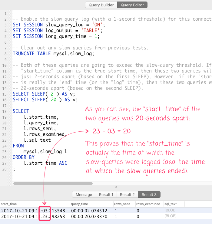 MySQL's Slow Query Log