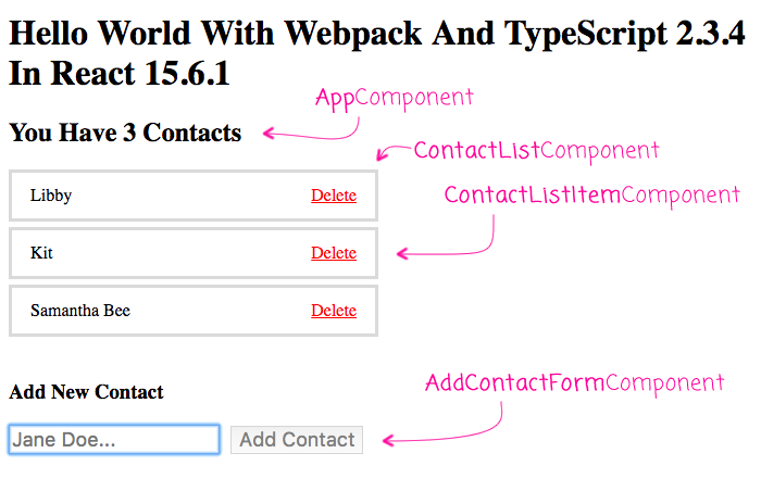 Hello World With Webpack And TypeScript 2 3 4 In React 15 6 1