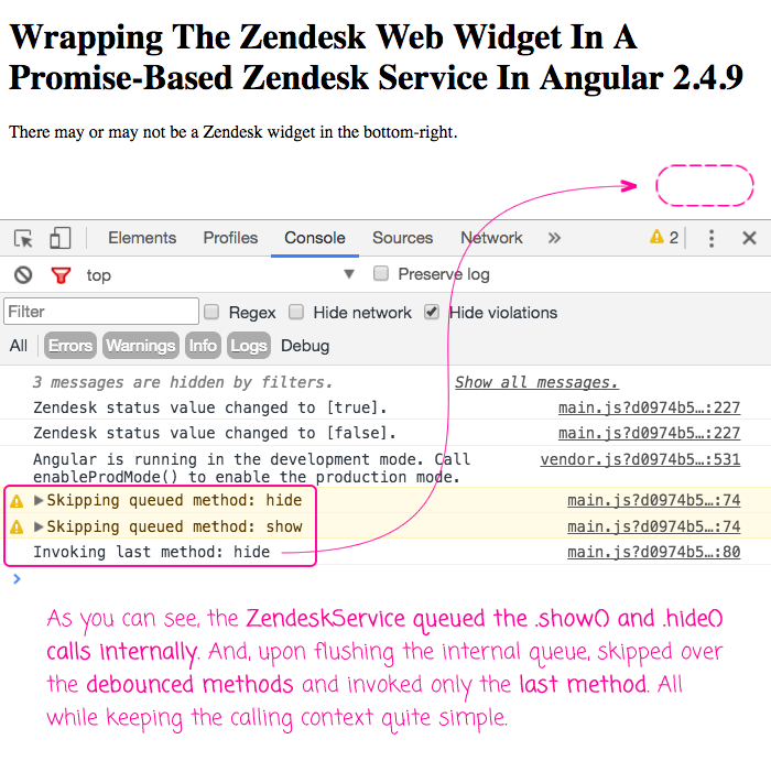 Wrapping The Zendesk Web Widget In A Promise-Based Zendesk Service