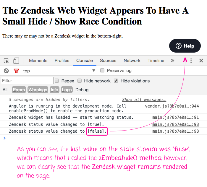 The Zendesk Web Widget Appears To Have A Small Hide