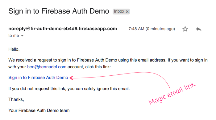 Using Magic Email Links To Authenticate Users With Firebase 5 7 0 In