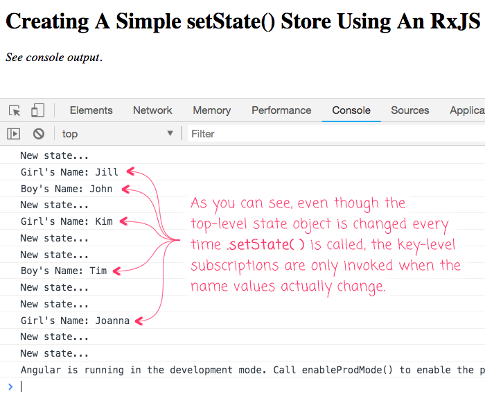 Creating A Simple setState() Store Using An RxJS