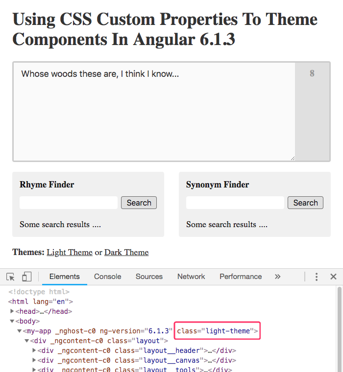 Using CSS Custom Properties To Theme Components In Angular 6 1 3
