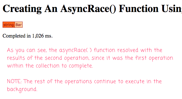 Using runAsync() and parallel iteration to create an asyncRace() function in Lucee 5 CFML.