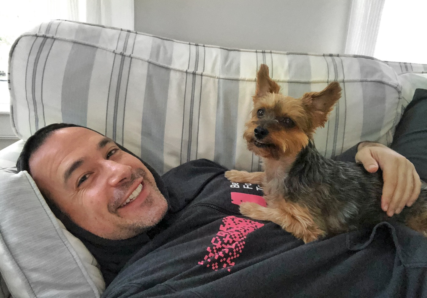Ben Nadel and his dog Lucy enjoy the benefits of working remotely at InVision, one of the world's largest all-remote companies.