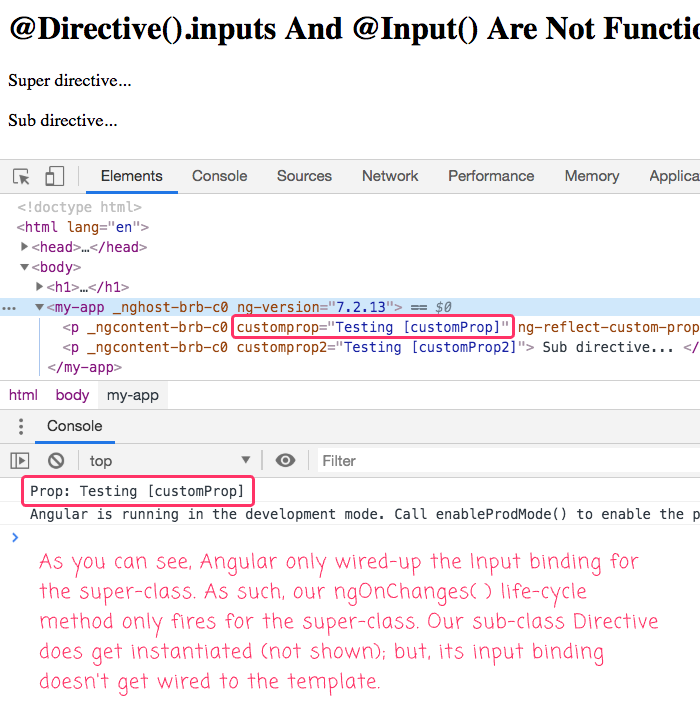 Directive input bindings affect the way Angular maps attributes onto class properties.